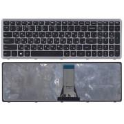 Клавиатура для ноутбука Lenovo IdeaPad Flex 15, 15D, G500S, G505, G505A, G505G, G505S, S500, S510, S510P, Z510 Черная, серая рамка