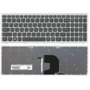 Клавиатура Lenovo IdeaPad P500, Z500, Z500A, Z500G, Z500T, 25206559 Черная, серая рамка, с подсветкой